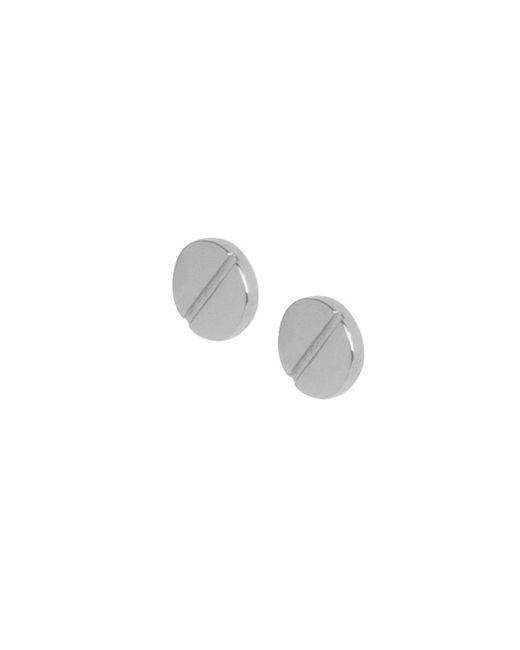 Matthew Calvin - Metallic Screw Top Studs Silver - Lyst