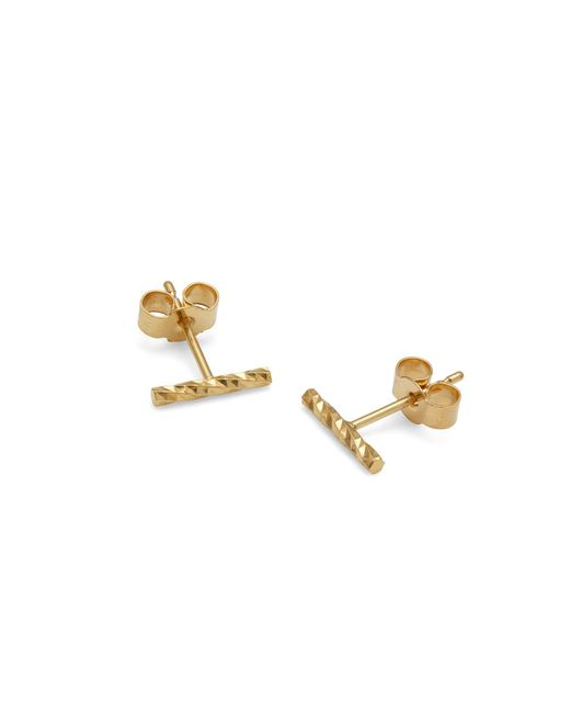 Myia Bonner - Metallic Gold Diamond Bar Stud Earrings - Lyst