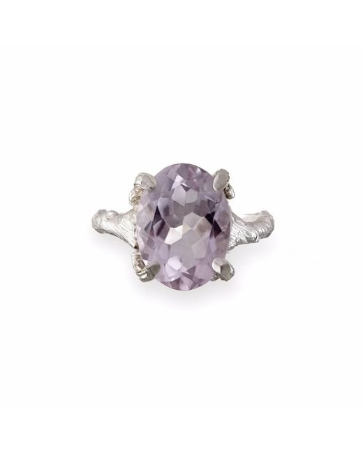 Chupi - Metallic Beauty In The Wild Ring In Amethyst & Silver - Lyst
