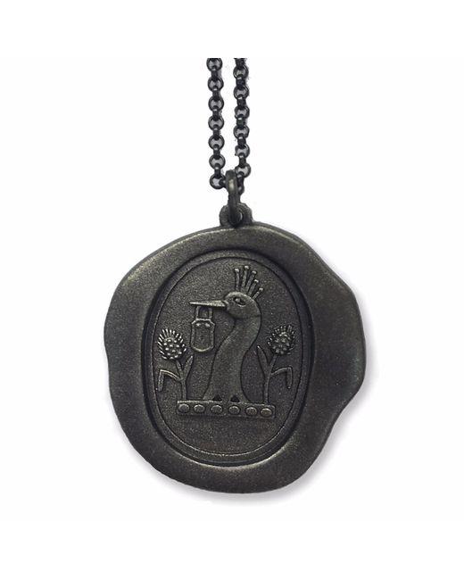 Serge Denimes | Black Gun Metal Padlock Pendant Necklace | Lyst