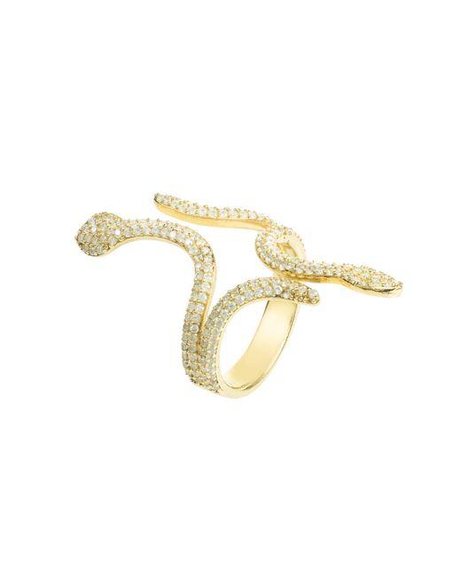 Latelita London - Metallic Cleopatra Snake Cocktail Ring Gold - Lyst