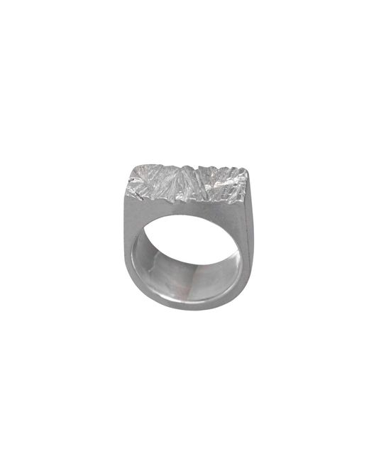 Edge Only - Metallic Rugged Ring Silver - Lyst