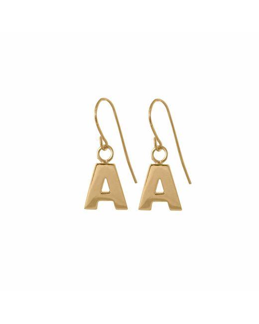 Edge Only - Metallic Letter Earrings In Gold - Lyst
