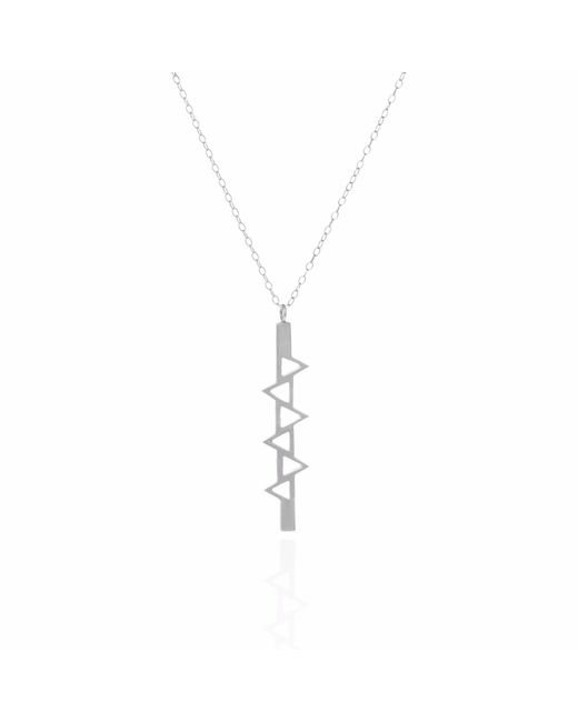 Sally Lane Jewellery - Metallic Ladder Of Life Long Silver Pendant - Lyst