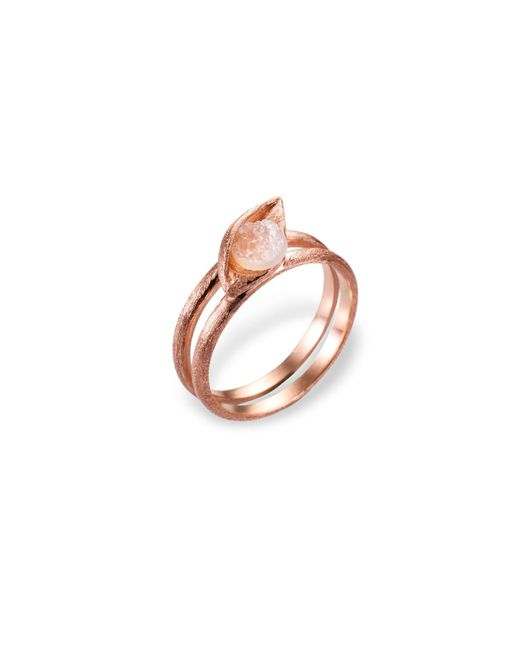 Ona Chan Jewelry | Metallic Eye Ring With Druzy Rose Gold | Lyst