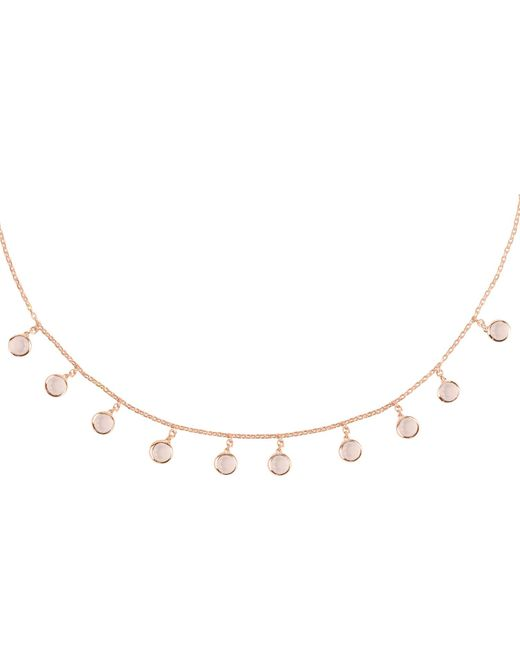 Latelita - Multicolor Florence Round Gemstone Necklace Rosegold Rose Quartz - Lyst