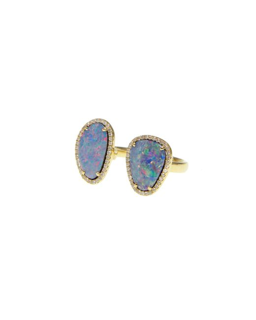 Ri Noor | Metallic Double Opal Slice Diamond Ring | Lyst