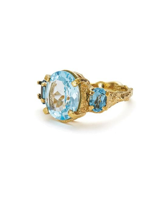 Chupi - Metallic Dew Drop In The Wild In Swiss Blue Topaz & London Blue Topaz - Lyst