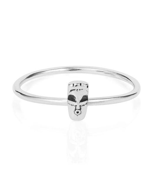 Lee Renee   Metallic Tiny Voodoo Damballah Ring Silver   Lyst