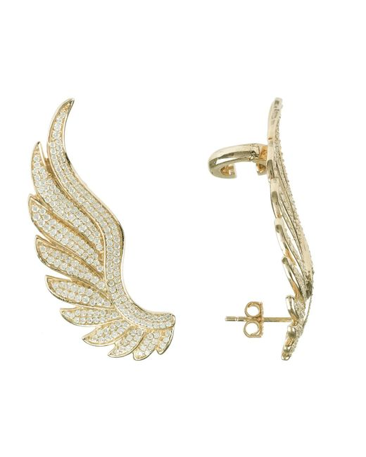 Latelita London - Metallic Gabriel Angel Wing Ear Climber Gold - Lyst