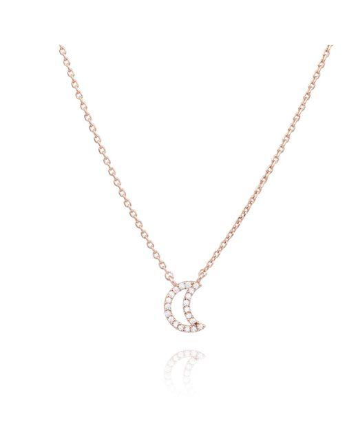 Astrid & Miyu - Metallic Rose Gold New Tricks Moon Necklace - Lyst