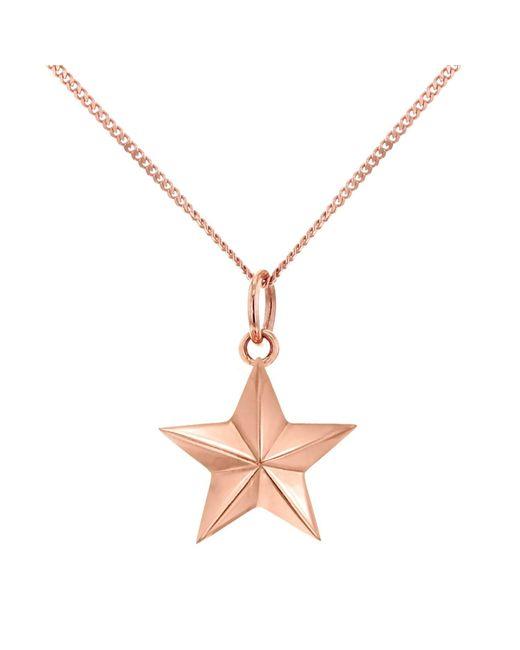 True Rocks | Metallic Large Star Necklace Rose Gold | Lyst