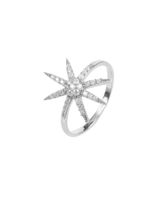 Latelita London - Metallic Star Burst Ring Silver - Lyst