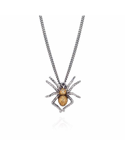 Yasmin Everley Jewellery - Metallic Gilded Spider Necklace - Lyst