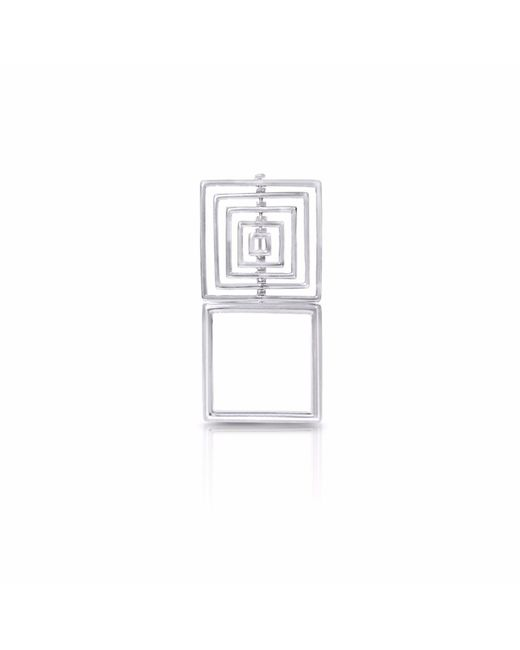 J.Y. GAO - Metallic Square To Cube Ring - Lyst