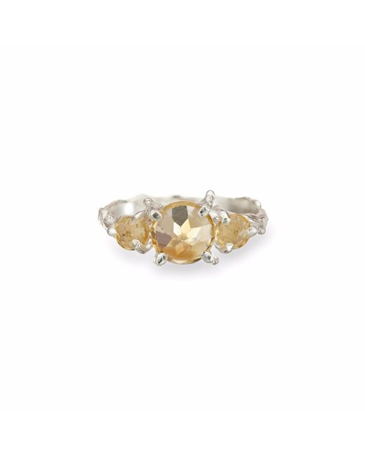 Chupi | Metallic Tiny Twinkle In The Wild Citrine Ring In Silver | Lyst