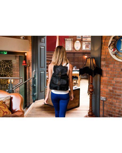 ... MAHI Leather - Leather Explorer Backpack rucksack Womens In Ebony Black  - Lyst f035cb29f7a90