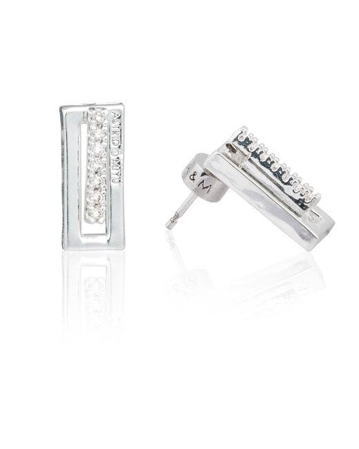 Astrid & Miyu - Metallic Line Ear Jacket In Silver - Lyst