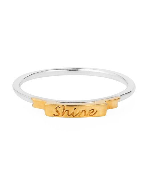Lee Renee - Metallic Shine Ring Gold Vermeil - Lyst