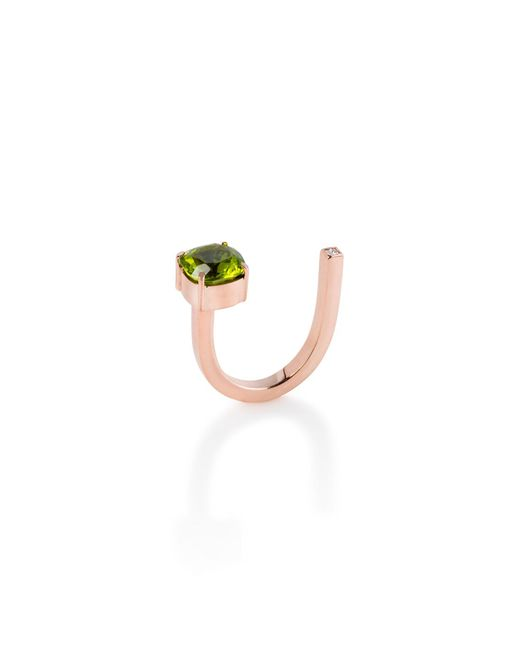 Myriamsos | The Side Stone Ring Green | Lyst