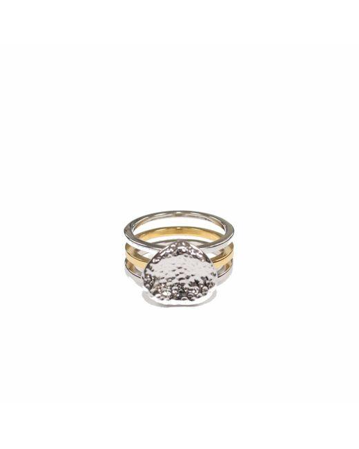 Serge Denimes | Metallic Stacked Bedrock Ring for Men | Lyst