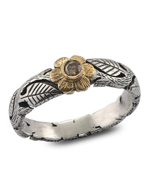 Emma Chapman Jewels - Brown Daisy Diamond Flower Ring - Lyst
