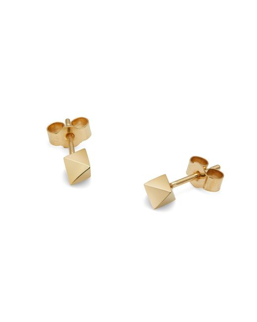 Myia Bonner - Metallic Gold Octahedron Stud Earrings - Lyst