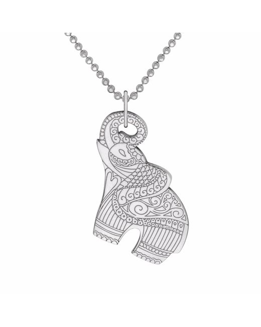 CarterGore   Metallic Silver Elephant Pendant Necklace   Lyst
