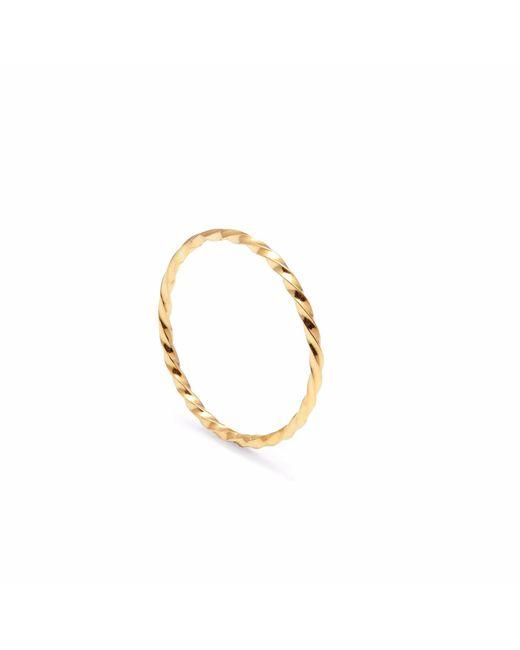 Myia Bonner - Metallic Gold Skinny Twist Stacking Ring - Lyst