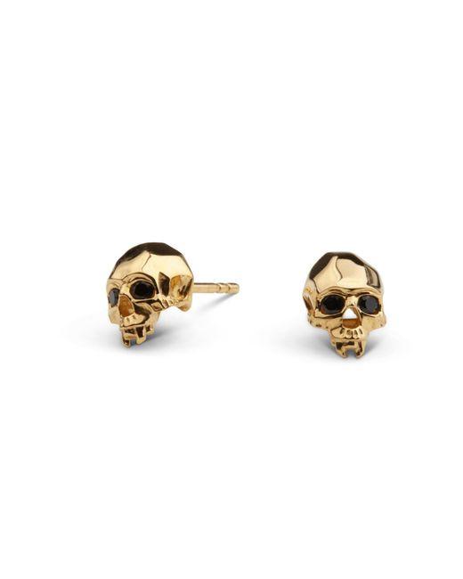 Kasun - Metallic Vampire Skull Stud Earrings Gold - Lyst