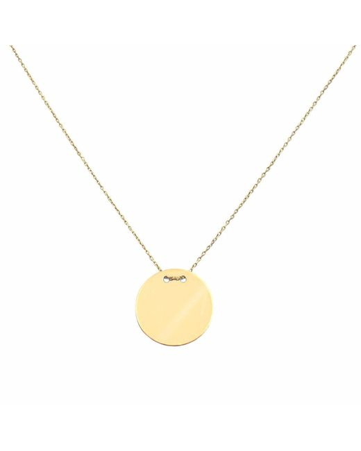 Talia Naomi - Metallic Golden Eclipse Necklace Gold - Lyst