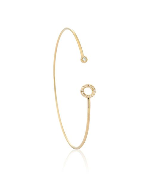 Astrid & Miyu | Metallic Gold Initial K Bangle | Lyst