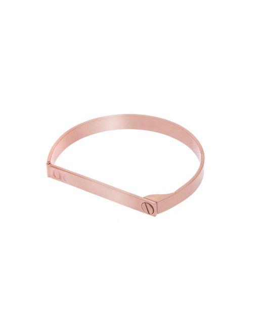 Opes Robur | Multicolor Rose Gold Screw On Love Bracelet | Lyst