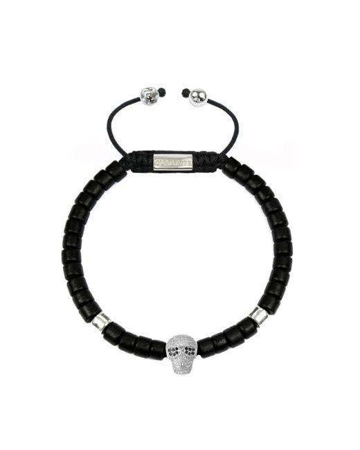 CLARISTE JEWELRY | Men's Ceramic Bead Bracelet Black With Silver Skull for Men | Lyst