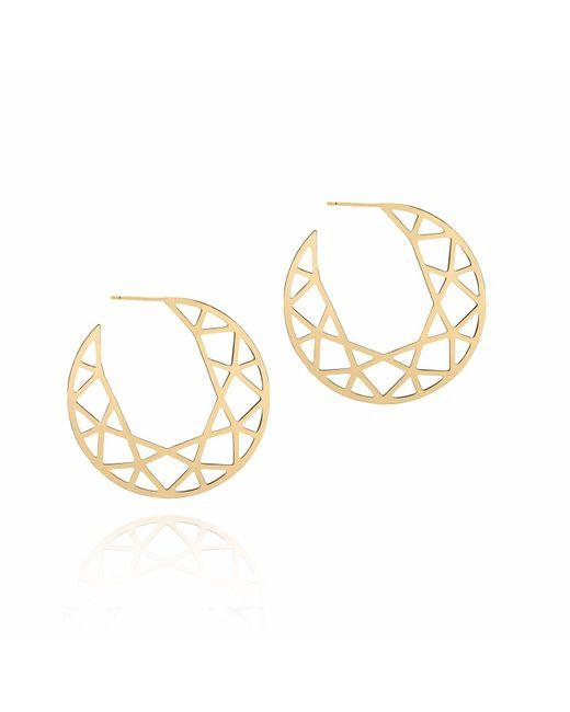 Myia Bonner - Metallic Gold Brilliant Diamond Hoop Earrings - Lyst