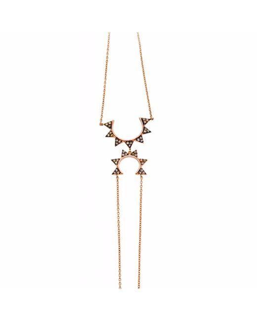 Sadekar Jewellery | Metallic Gear Hand Chain With Brown Diamond | Lyst