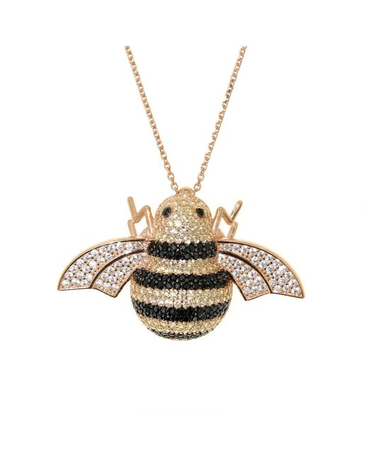 Cosanuova - Metallic Sterling Silver Busy Bee Necklace - Lyst