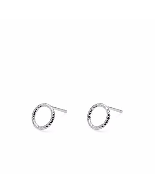 Myia Bonner | Metallic Silver Mini Diamond Circle Stud Earrings | Lyst