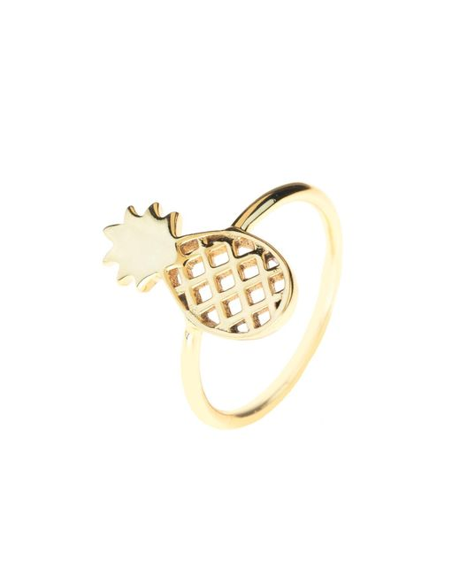 Latelita London - Metallic Cosmic Pineapple Ring Gold - Lyst