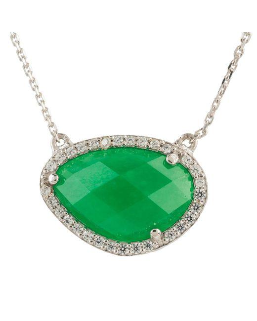 Latelita London - Sofia Green Onyx Gemstone Necklace Silver - Lyst
