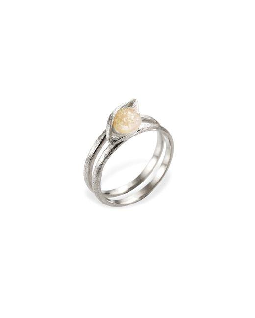 Ona Chan Jewelry | Metallic Eye Ring With Druzy Silver | Lyst