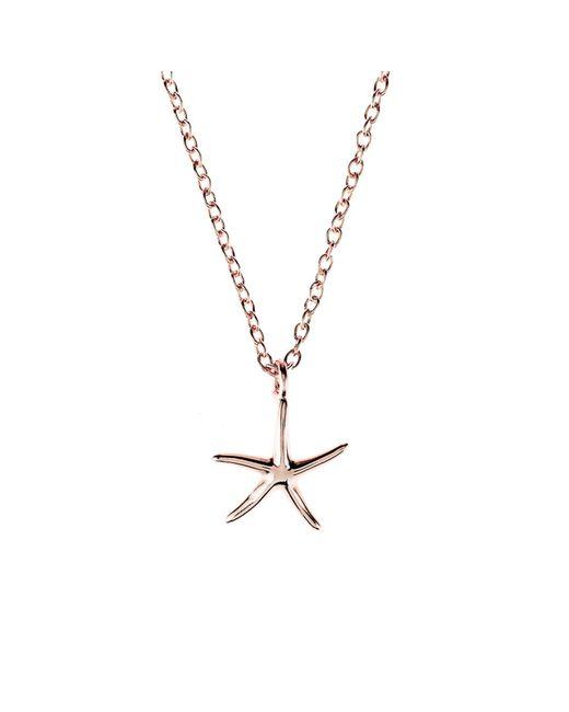 Latelita London - Metallic Cosmic Petite Starfish Necklace Rosegold - Lyst