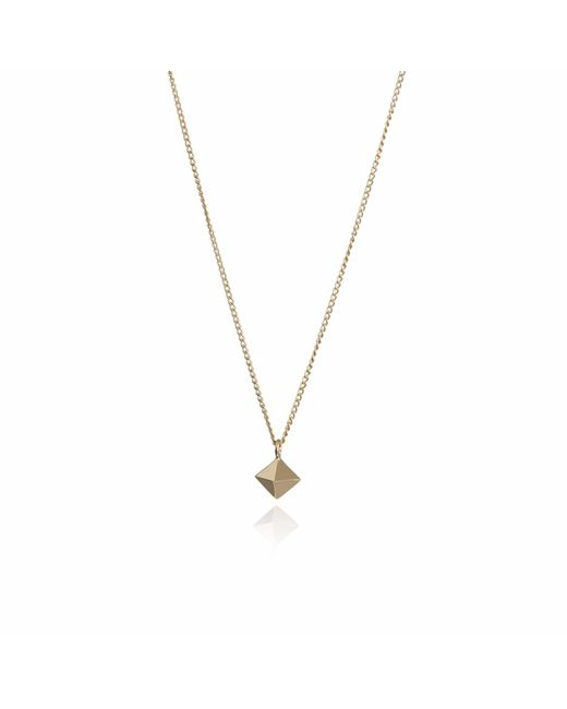 Myia Bonner - Metallic Gold Mini Octahedron Necklace - Lyst