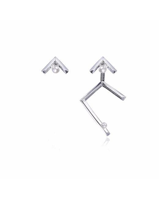 Sonal Bhaskaran | Metallic Ika Asymmetric Earrings | Lyst