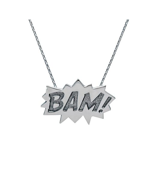 Edge Only - Metallic Bam Pendant Large Long In Silver - Lyst