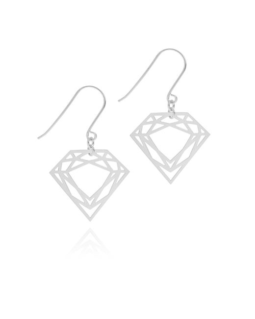 Myia Bonner - Metallic Silver Classic Diamond Earrings - Lyst