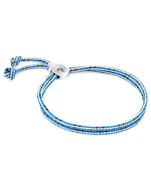 Anchor & Crew - Blue Dash Pembroke Silver & Rope Bracelet for Men - Lyst