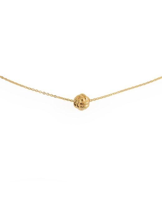 MARIE JUNETM Jewelry - Metallic Monkey Paw Knot Charm Gold Necklace - Lyst