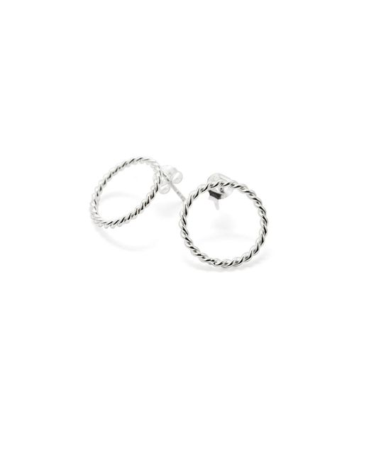 Isabel Lennse - Metallic S Twisted Circle Earrings - Lyst