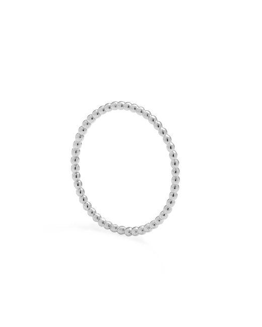 Myia Bonner - Metallic Silver Skinny Ball Stacking Ring - Lyst